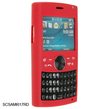 Silicone Skin Cover Case for Samsung BlackJack II i617 - Red