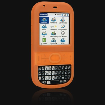 Orange Silicone Skin Cover Case for Palm Centro