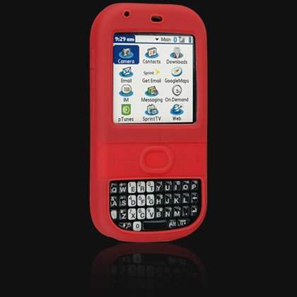 Red Silicone Skin Cover Case for Palm Centro