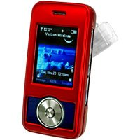 RED Hard Shell Shield Protector ProGuard Case for LG Chocolate 2 VX8550