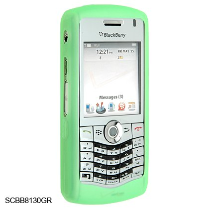 Silicone Skin Cover Case for BlackBerry 8130 Pearl - Green