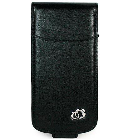 Premium Leather Case for BlackBerry 8130 Pearl - Black