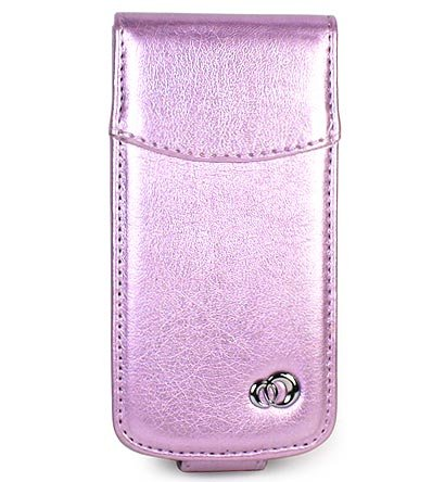 Premium Leather Case for BlackBerry 8130 Pearl - Purple