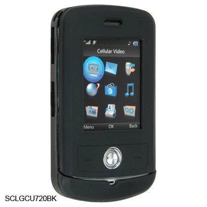 Silicone Skin Cover Case for LG Shine CU720 - Black