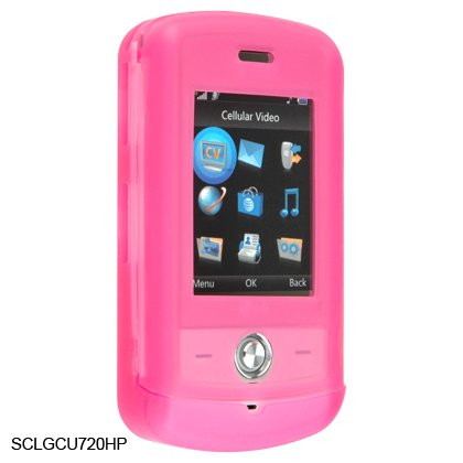 Silicone Skin Cover Case for LG Shine CU720 - Pink
