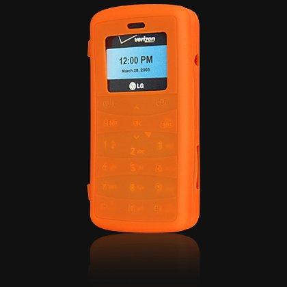 Silicone Skin Cover Case for LG VX9100 enV2 - Orange