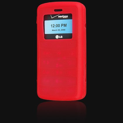 Silicone Skin Cover Case for LG VX9100 enV2 - Red