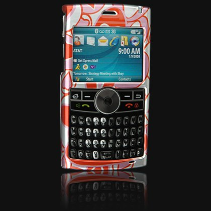 Crystal Shield Protector Case for Samsung BlackJack II (SGH-i617) - Red Hearts