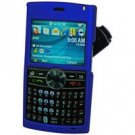 Samsung BlackJack II SGH-i617 Blue Hard Shield Protector Case w/ Detachable Clip