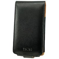 Black Executive Flip Cover Leather Wallet Case for Samsung BlackJack II i617