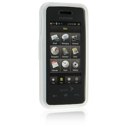 Silicone Skin Cover Case for Samsung Instinct M800 - White