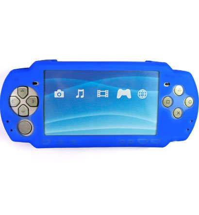 Silicone Skin Cover Case for Sony PlayStation Portable (PSP 2000) Slim - Blue