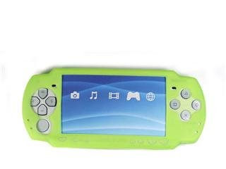Silicone Skin Cover Case for Sony PlayStation Portable (PSP 2000) Slim - Green