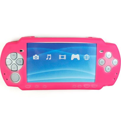 Silicone Skin Cover Case for Sony PlayStation Portable (PSP 2000) Slim - Pink