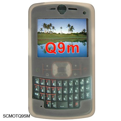 Soft Rubber Silicone Skin Cover Case for Motorola Q9m Cell Phone - Gray