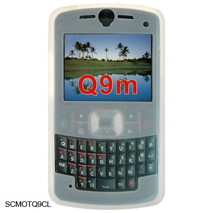 Soft Rubber Silicone Skin Cover Case for Motorola Q9m Cell Phone - White