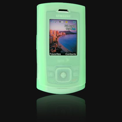 Soft Rubber Silicone Skin Cover Case for Samsung M520 Cell Phone - GREEN