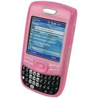 Soft Rubber Silicone Skin Cover Case for Palm Treo 680 Cell Phone - PINK