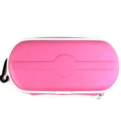Carrying Cover Case Pouch for Sony PlayStation Portable (PSP 2000) Slim - HOT PINK