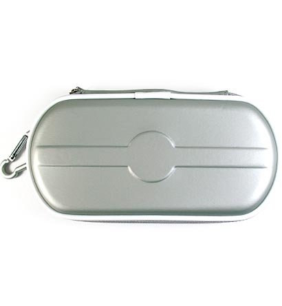 Carrying Cover Case Pouch for Sony PlayStation Portable (PSP 2000) Slim - SILVER