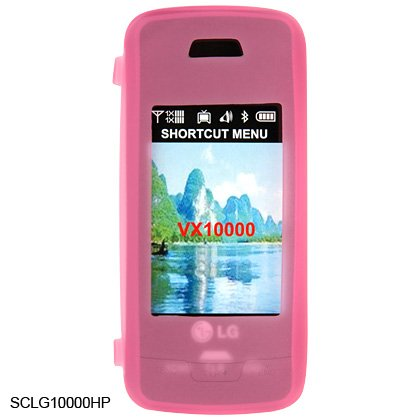 Soft Rubber Silicone Skin Cover Case for LG Voyager VX10000 - Pink
