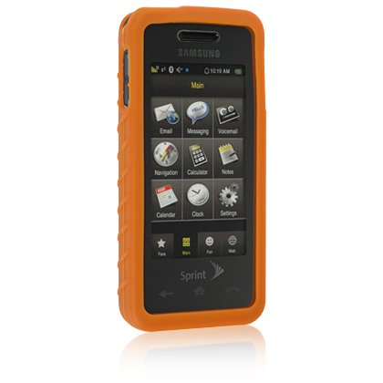 ORANGE Soft Rubber Silicone Skin Case Cover for SAMSUNG INSTINCT M800 Cell Phone