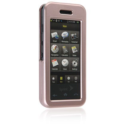 BLUSH Hard Plastic Face Plate Shield Protector Case for SAMSUNG INSTINCT M800 Cell Phone