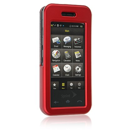 RED Hard Plastic Face Plate Shield Protector Case for SAMSUNG INSTINCT M800 Cell Phone