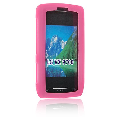 PINK Soft Rubber Silicone Skin Cover Case for LG DARE VX9700 Cell Phone