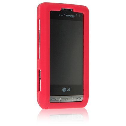 RED Soft Rubber Silicone Skin Cover Case for LG DARE VX9700 Cell Phone