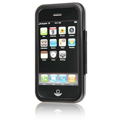 BLACK Aluminum Hard Shell Shield Protector Case for Apple iPhone 3G 2nd Generation Cell Phone