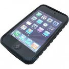 BLACK Premium High-Grade Textured Soft Rubber Silicone Skin Cover Case for Apple iPhone 3G