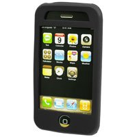 BLACK Silicone Rubber Jelly Case for Apple iPhone 3G