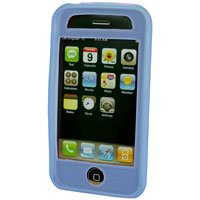 Silicone Rubber Jelly Case for Apple iPhone 3G - SOLID BABY BLUE
