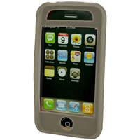 Silicone Rubber Jelly Case for Apple iPhone 3G - SOLID GRAY
