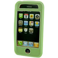 Silicone Rubber Jelly Case for Apple iPhone 3G - SOLID GREEN