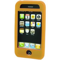 Silicone Rubber Jelly Case for Apple iPhone 3G - SOLID ORANGE