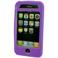 Silicone Rubber Jelly Case for Apple iPhone 3G - SOLID PURPLE