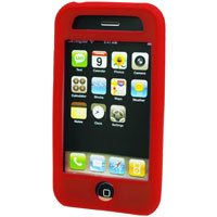 Silicone Rubber Jelly Case for Apple iPhone 3G - SOLID RED