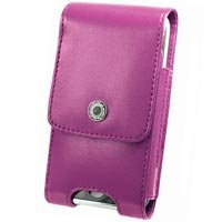 Purple Vertical Noble Case with Removable Spring Clip & Swivel Clip for Apple iPhone 3G