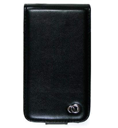 VERTICAL Leather Carrying Case Cover for Apple iPhone 3G - BLACK