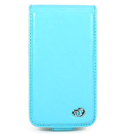 VERTICAL Leather Carrying Case Cover for Apple iPhone 3G - BLUE