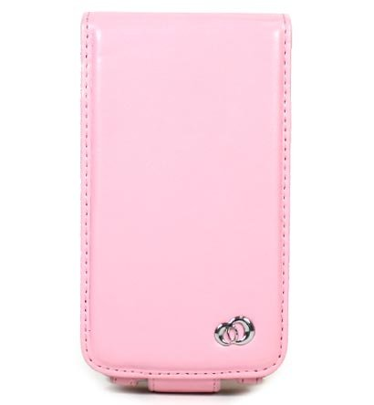 VERTICAL Leather Carrying Case Cover for Apple iPhone 3G - PINK
