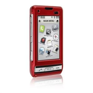 Hard Plastic Shield Protector Faceplate Case for LG DARE VX-9700 - RED