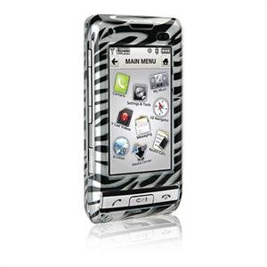 Hard Plastic Shield Protector Faceplate Case for LG DARE VX-9700 - ZEBRA STRIPES