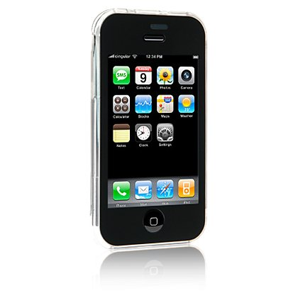 iPhone 3G Hard Plastic Shield Protector Case w/ Touch Screen Protector & Swivel Belt Clip - CLEAR