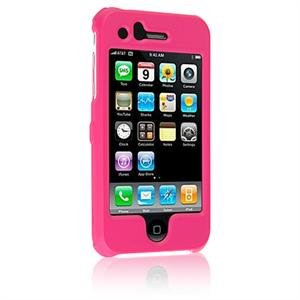 Hard Plastic Shield Protector Faceplate Case for Apple iPhone 3G - HOT PINK