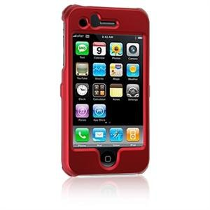 Hard Plastic Shield Protector Faceplate Case for Apple iPhone 3G - RED