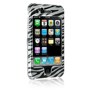 Hard Plastic Shield Protector Faceplate Case for Apple iPhone 3G - ZEBRA STRIPES
