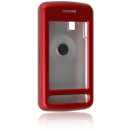 Hard Plastic Shield Protector Case for LG VU CU915 / CU920 - RED